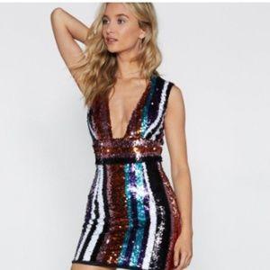 Never Worn Nasty Gal Sequin Dress